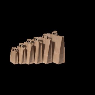 claerpack PHV Bruine kraftzakken met een plat handvat 18 x 8 x 22 cm 500 zakken