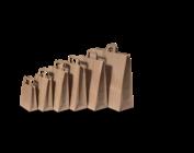 Papieren zakken  met platte handvaten