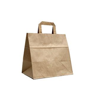 claerpack PHV Sacs cabas alimentaire brun  à poignées plates 32 x 21  x 27  cm 250 sacs
