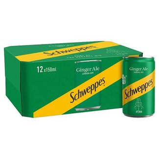 Schweppes Canada Dry Ginger Ale 12x150ml (GB)