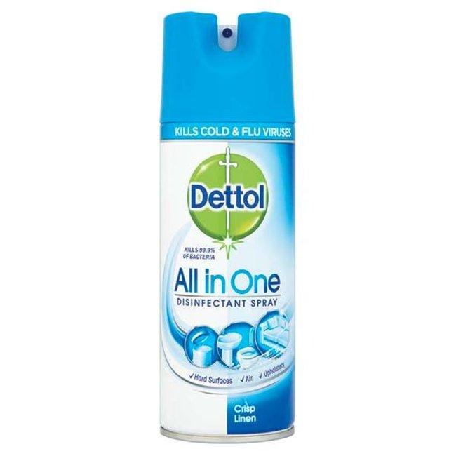 Dettol Disinfectant Spray Crisp Linen 400ml