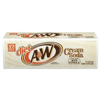 A&W Diet Cream Soda  (12 pack)