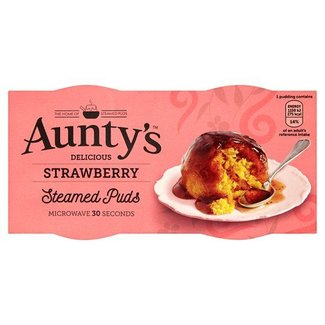 Auntys Steamed Strawberry Puddings 2x100g