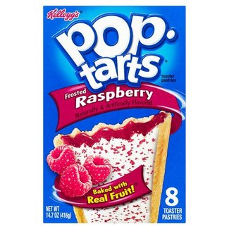 Kellogg's Pop Tarts Frosted Raspberry 8pk