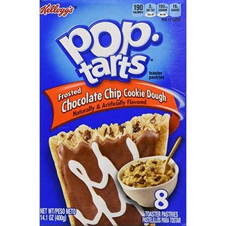 Kellogg's Pop Tarts Frosted Choc Chip Cookie Dough 8pk