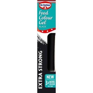 Dr. Oetker Gel Food Colour Jet Black 15g