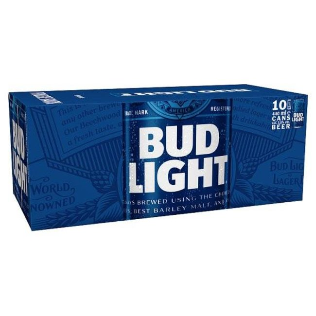 Budweiser Bud light (10 pack)