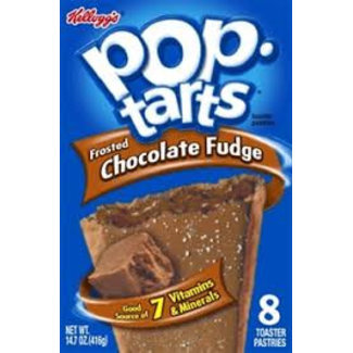 Kellogg's Pop Tarts Frosted Chocolate Fudge 8pk