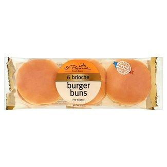 St Pierre Brioche Burger Buns 6 pack