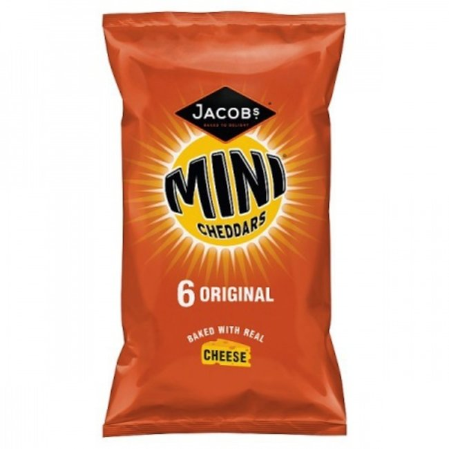 Jacob's Baked Mini Cheddars Cheese Biscuits 6pk