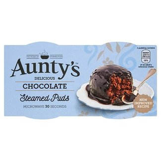 Auntys Steamed Chocolate Puddings 2x100g