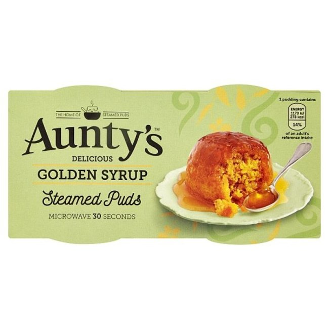Auntys Steamed Golden Syrup Puddings 2x100g