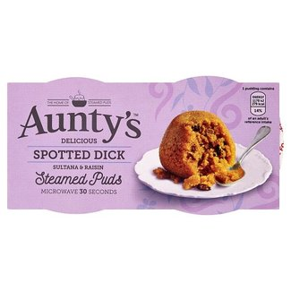 Auntys Steamed Spotted Dick Puddings 2x100g