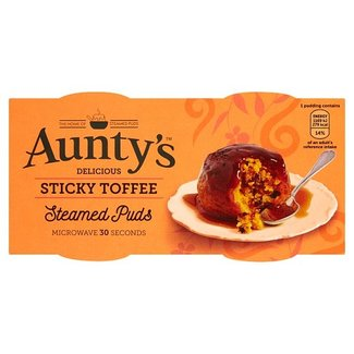Auntys Steamed Sticky Toffee Puddings 2x100g
