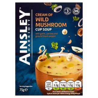 Ainsley Wild Mushroom Cup Soup 3x22g
