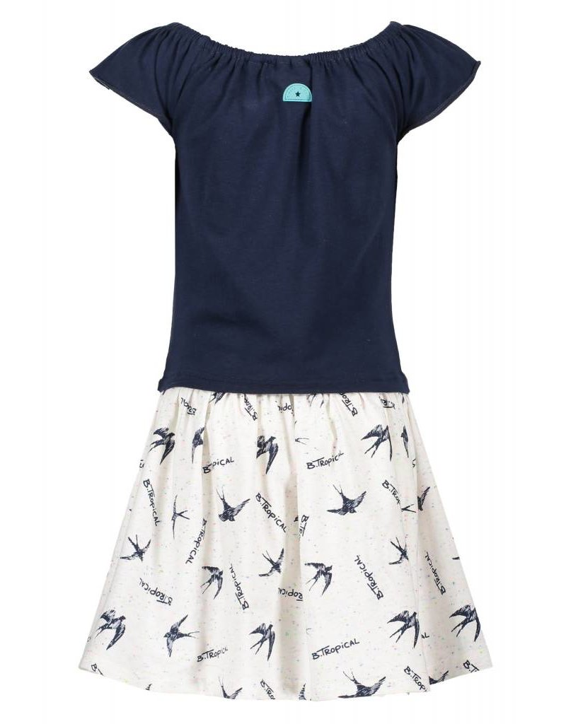 B-Nosy jurk met vogelprint rok
