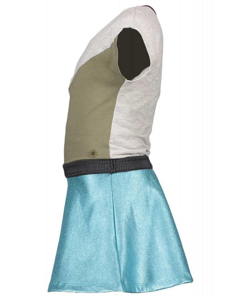 Like Flo jurk met metallic rok