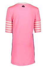 B-Nosy jurk met rib mouwen