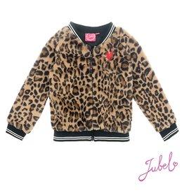 Jubel teddy vest luipaard lippenstift