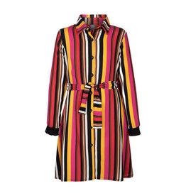 Kie-stone jurk multi kleur