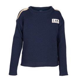 Kie-stone trui donkerblauw