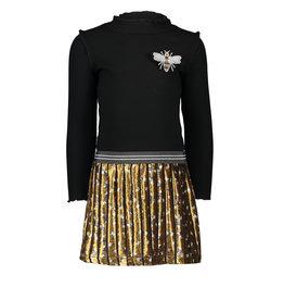 Like Flo jurk met col met geweven rok