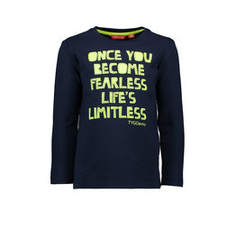 TYGO&vito shirt lange mouw once you become fearless life's limitless