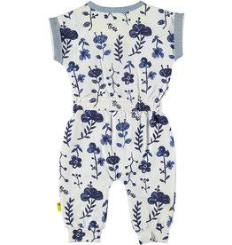 B.E.S.S jumpsuit blauwe bloemen