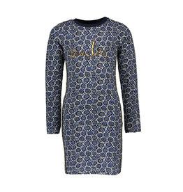 Moodstreet jurk met print happy
