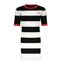 Nobell jurk may zwart wit rood strepen