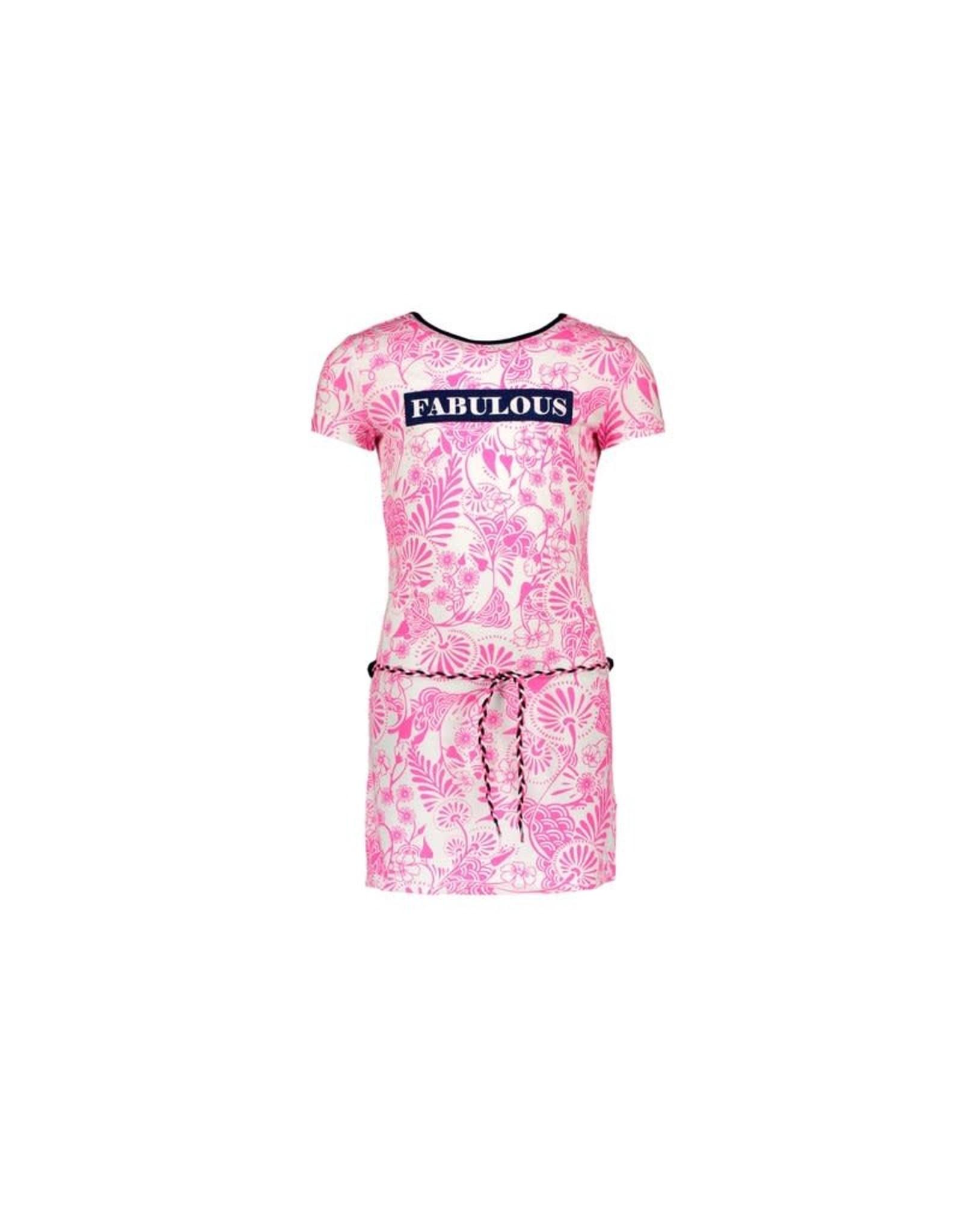 B-Nosy jurk delfts roze met strik detail in de nek