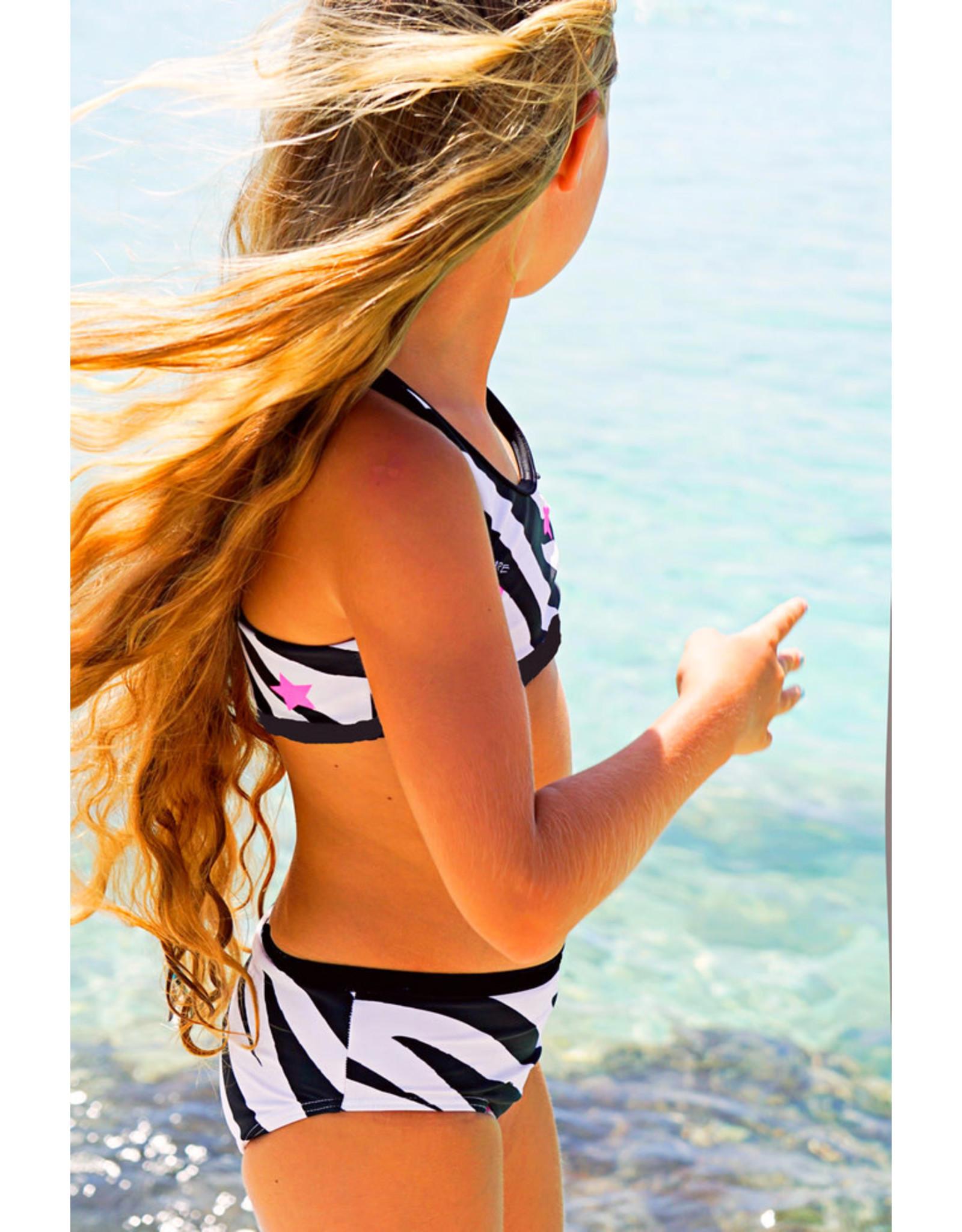B-Nosy sportieve bikini met zebra print