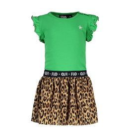 Like Flo jurk met panter plisse rok