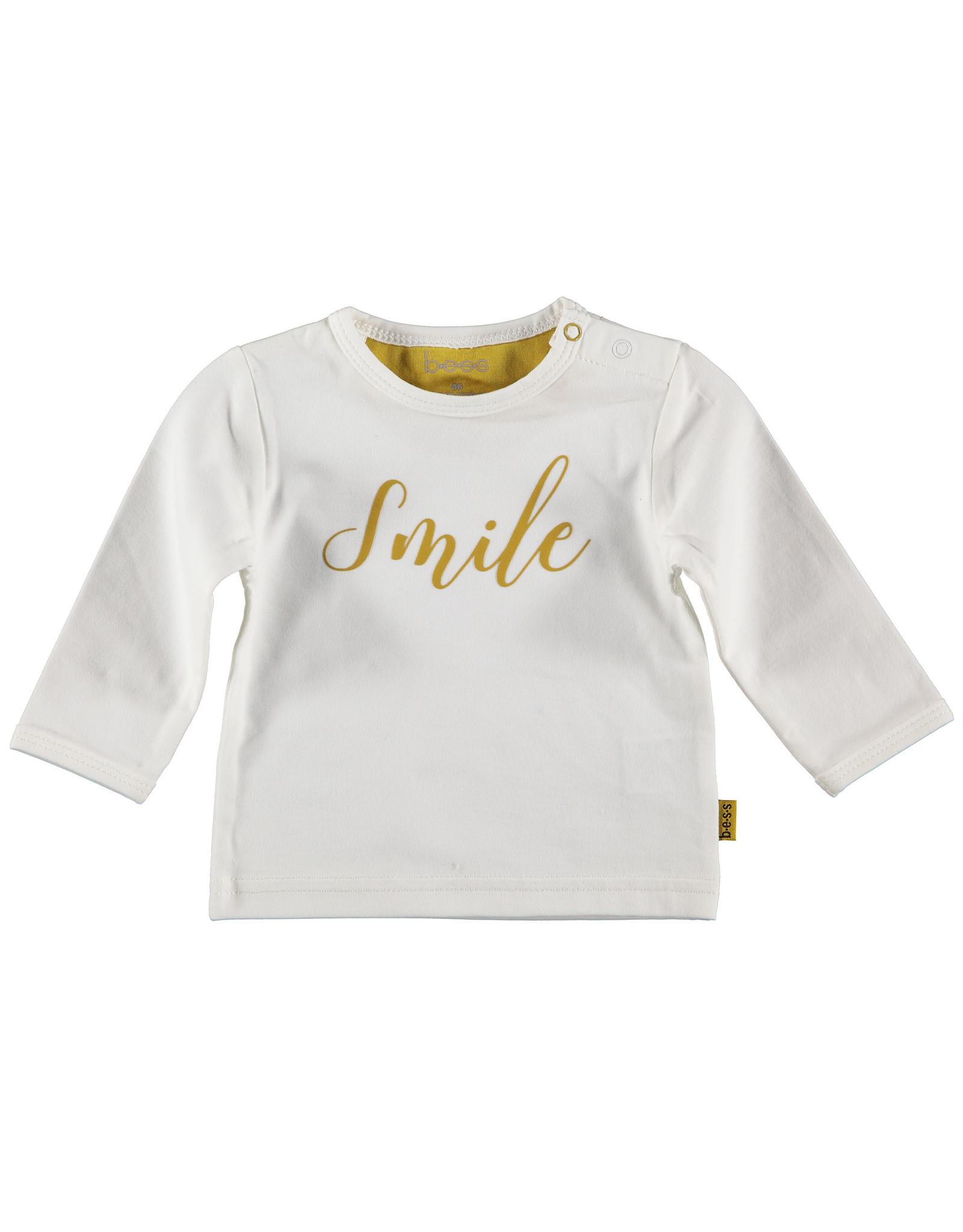 B.E.S.S shirt lange mouw smile