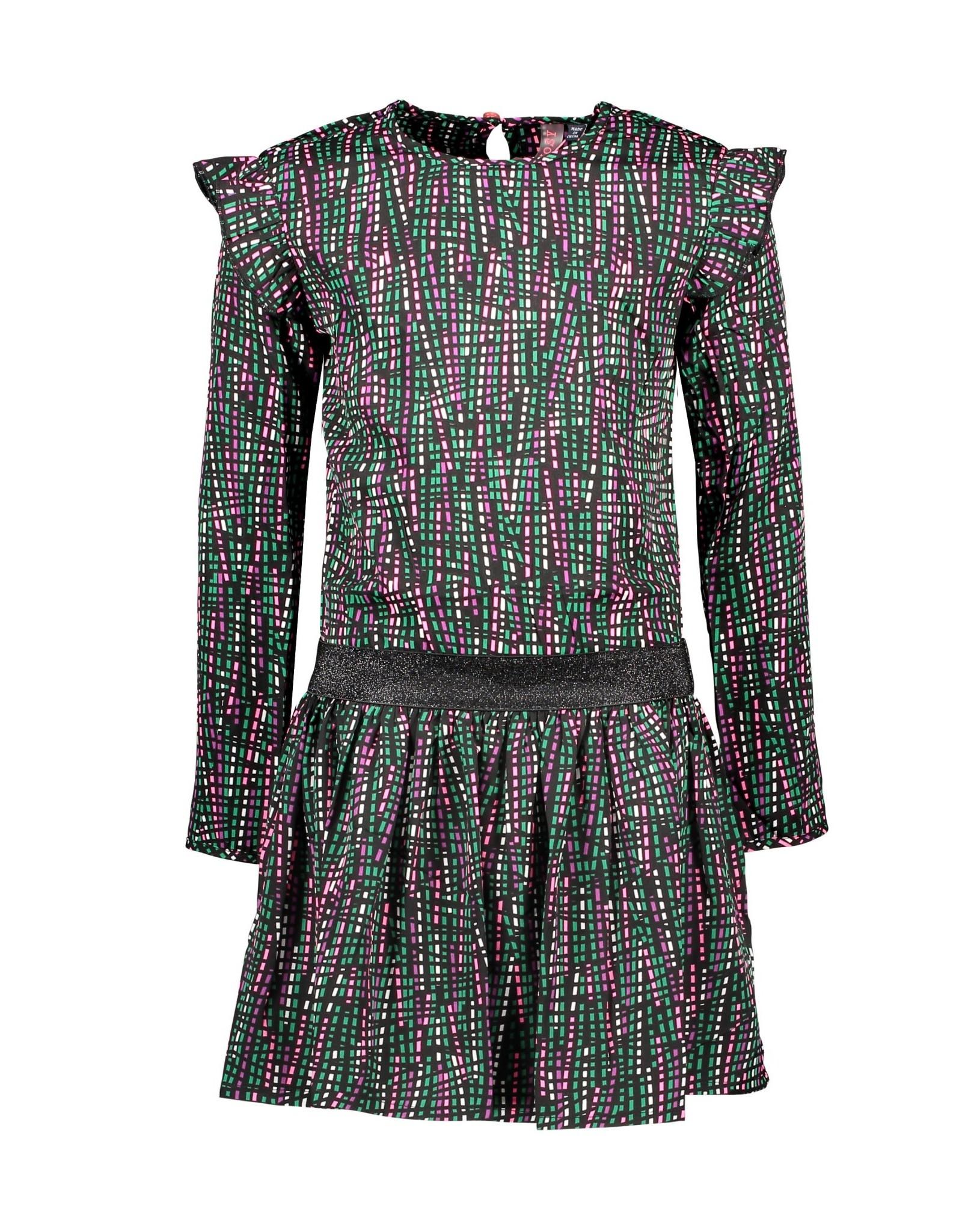 B-Nosy jurk met ruffles detail