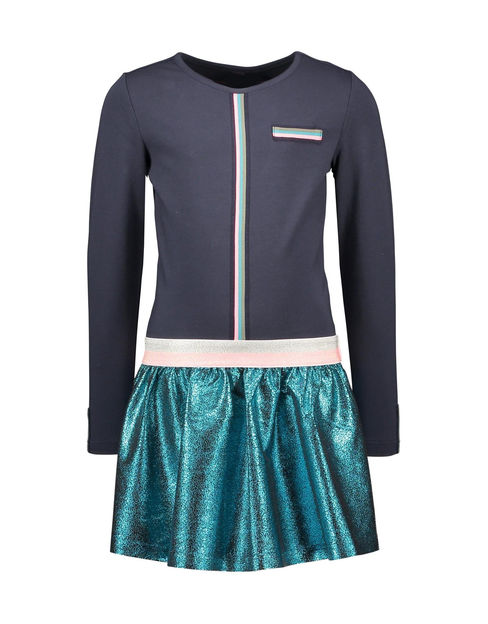 B-Nosy jurk met metallic rok
