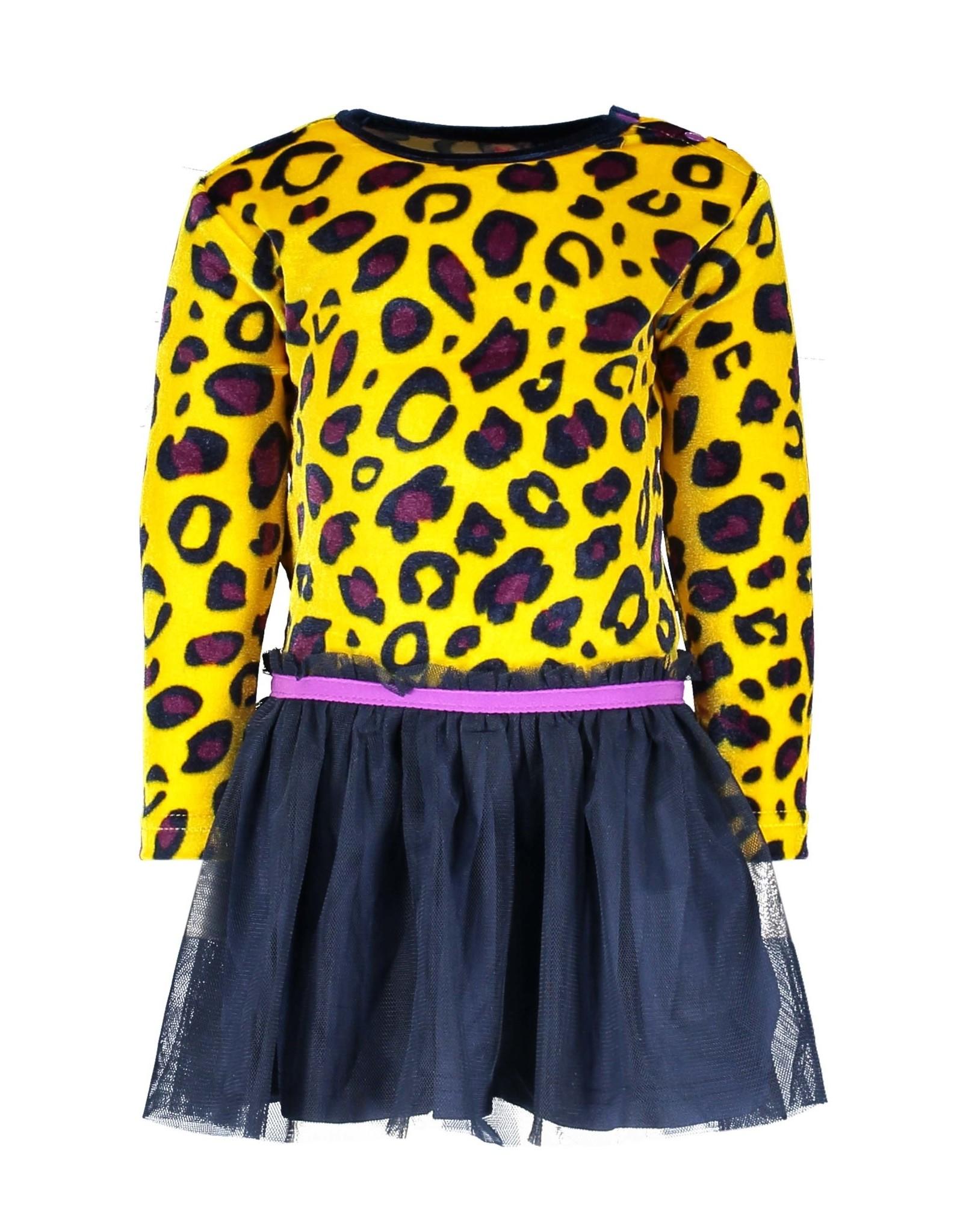 B-Nosy jurk panter print top