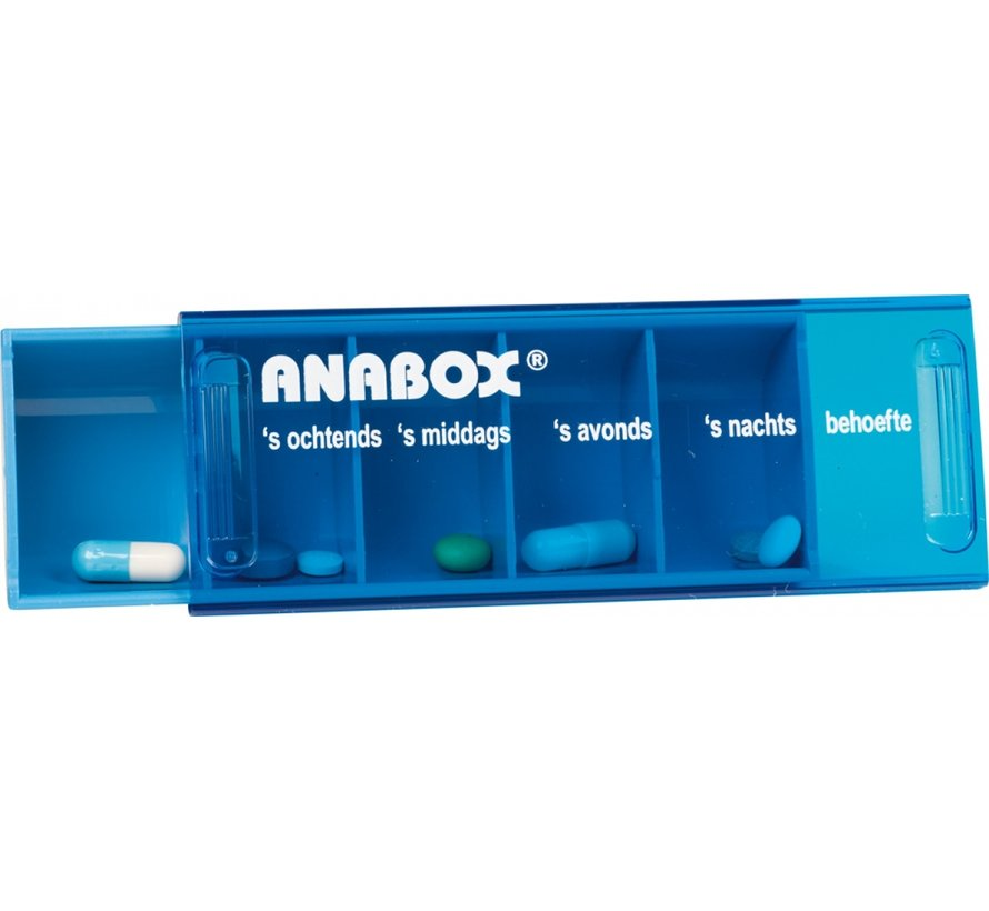 Medicijnenbox/pillendoos met 7 dagen voor elke dag per week