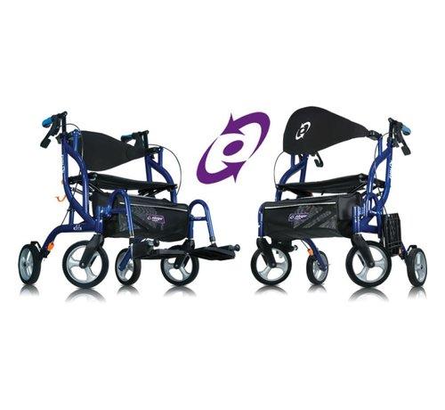 Revatel Airgo Fusion -Inklapbare rollator/transportstoel