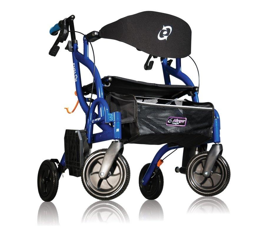 Airgo Fusion -Inklapbare rollator/transportstoel