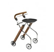 TrustCare Let's Go Indoor rollator - walnoot/chroom