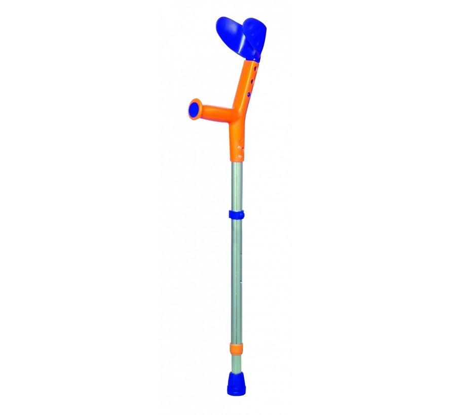 Elleboogkruk Tiki kind blauw/oranje p/st