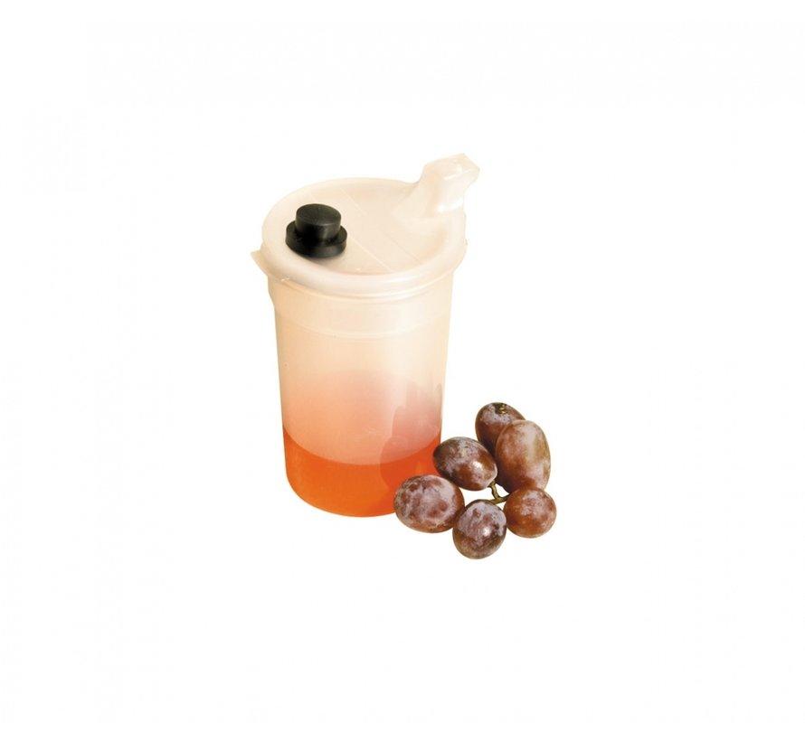 Voedingsbeker met drinktempo knop