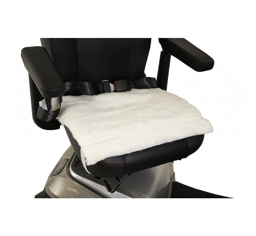 Schapenvacht zitting voor rolstoel
