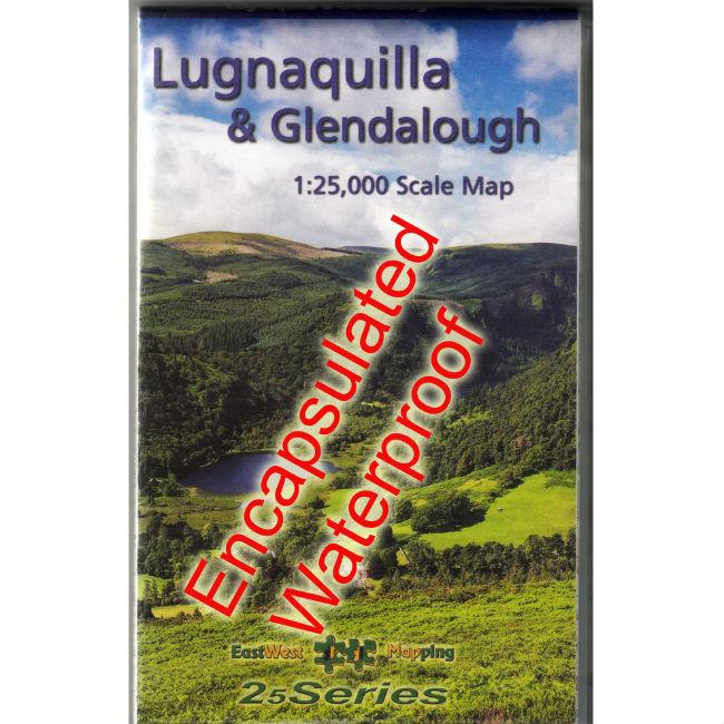 Lugnaquilla and Glendalough Waterproof Map