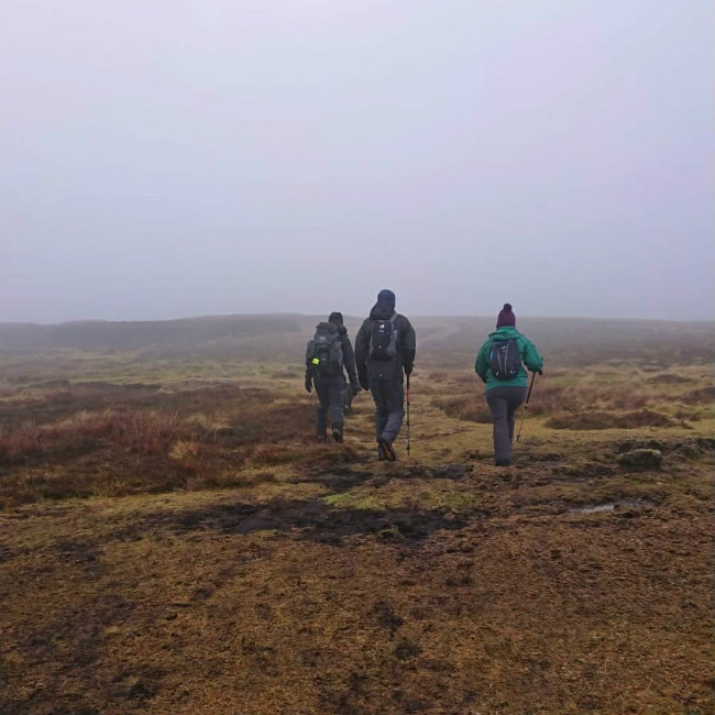 Walkers on Carrawaystick Mountain