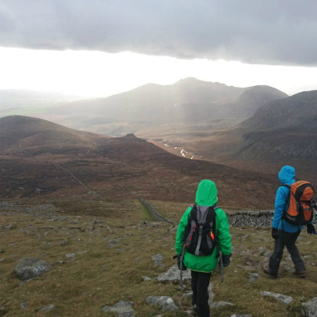 Walkers in The Mournes