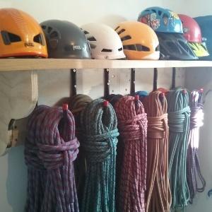 Helmet and Rope Storage