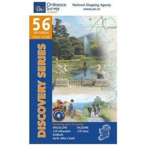 OSI Discovery Series Sheet 56 Weatherproof Map adventure.ie