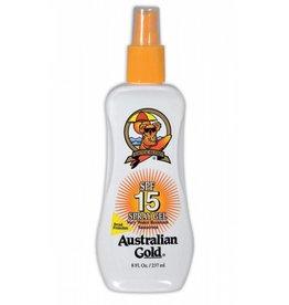 Australian Gold SPF 15 Spray Gel ample stock!